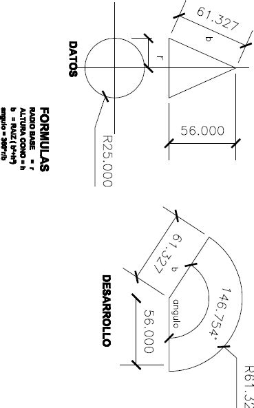 Development of a cone in PDF | Download CAD free (63