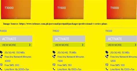Telenor Postpaid Call Internet Packages 2018