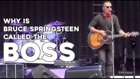 Why is Bruce Springsteen called The Boss? - YouTube