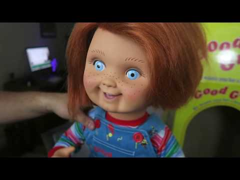 Child's Play Chucky Puppe Good Guy Evil Face bei Close Up