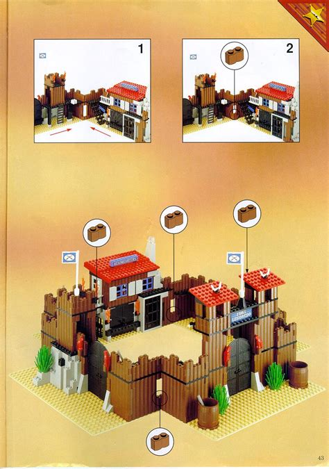 LEGO FORT LEGOREDO Instructions 6769, Western