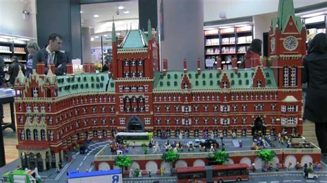 LEGO St Pancras at Waterstones Piccadilly - YouTube