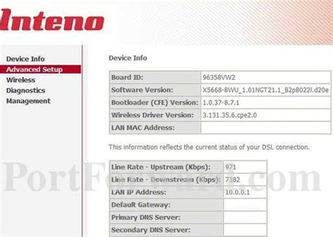Open Ports on the Inteno DG150B Router