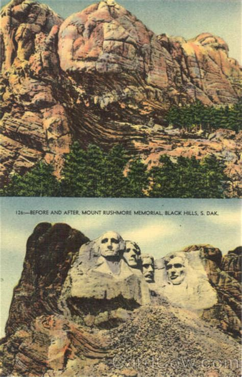 Before and After, Mount Rushmore Memorial Black Hills, SD