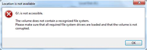 Fix: The Volume Does Not Contain A Recognized File System