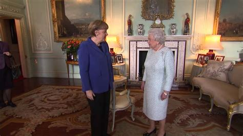 The Queen receives the Chancellor of Germany Angela Merkel