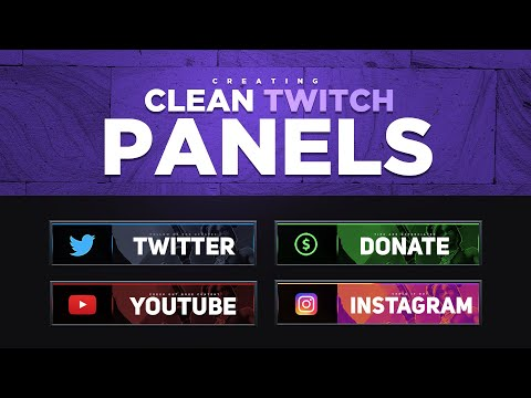 Colored Twitch Panels | Visuals by Impulse