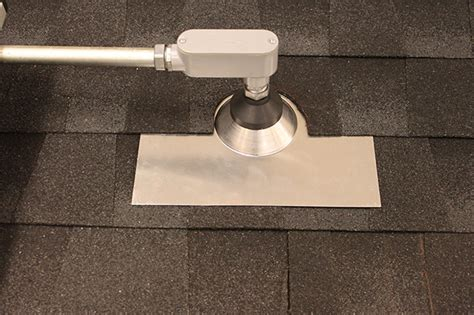 Roof Flashing for Electrical Conduit Penetrations