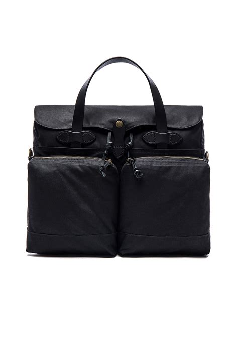 Lyst - Filson 24 Hour Tin Cloth Briefcase in Black for Men