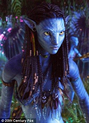 Avatar: Zoe Saldana isn't feeling so blue any more as she