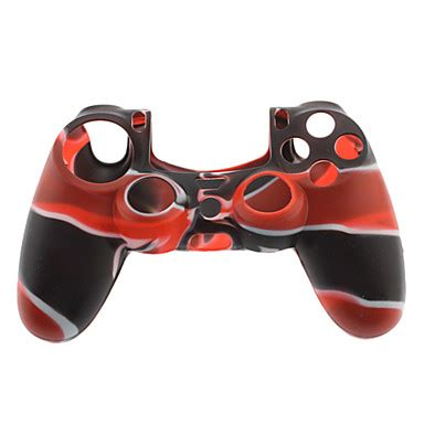 Silikon Skin case for PS4 Controller (Black & Red) 929633