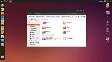 Ubuntu Skin Pack Download Free for Windows 10, 7, 8 (64