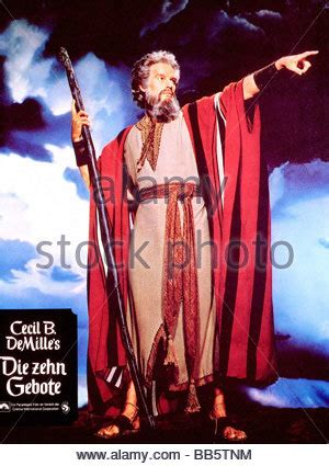 The Ten Commandments Charlton Heston As Moses In The 1956