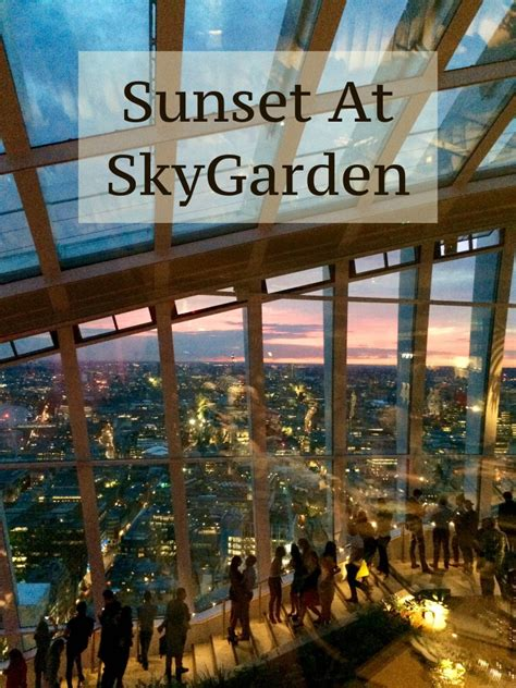 A Stunning Sunset at SkyGarden - Two Feet, One World