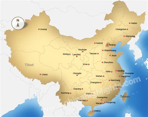 China Map, Maps of China Top Regions, Chinese Cities and