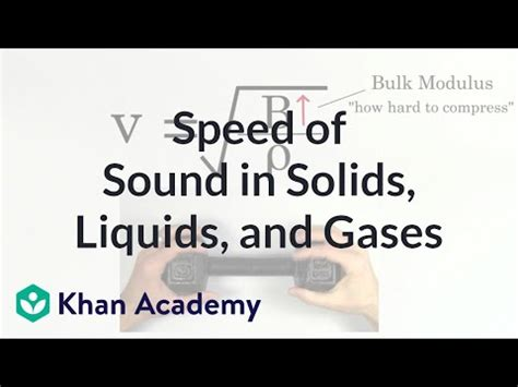 Relative speed of sound in solids, liquids, and gases