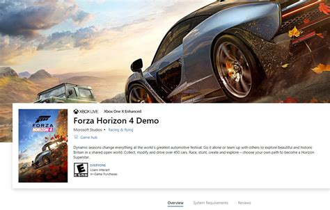 A Forza Horizon 4 Demo Looks Likely to Be Released Today