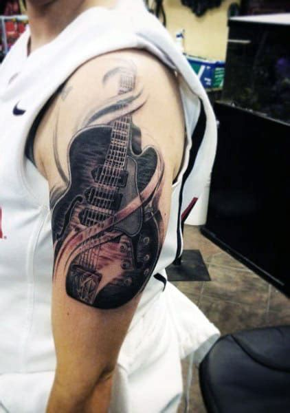 65 Guitar Tattoos For Men - Acoustic And Electric Designs