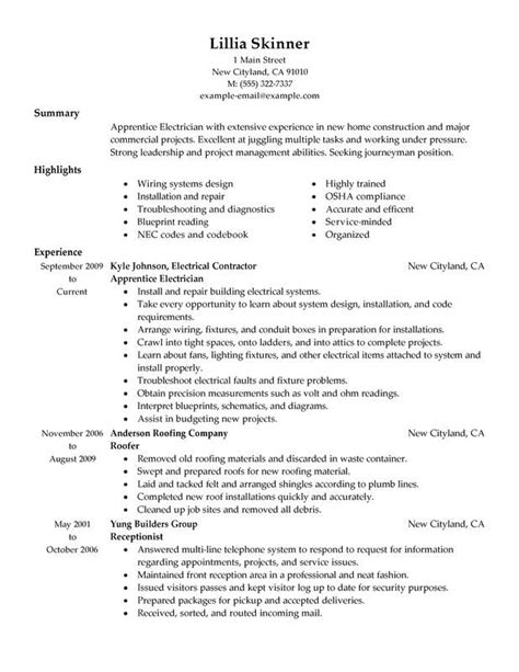 Electrician Resume Examples Jobs Getting a job as an