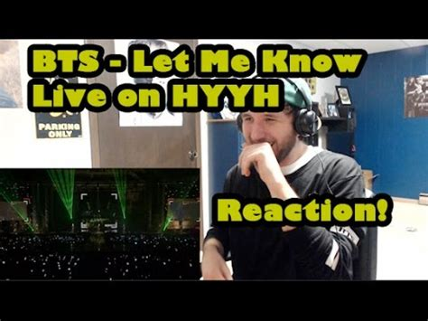 BTS HYYH Let Me Know LIVE - Reaction! - YouTube