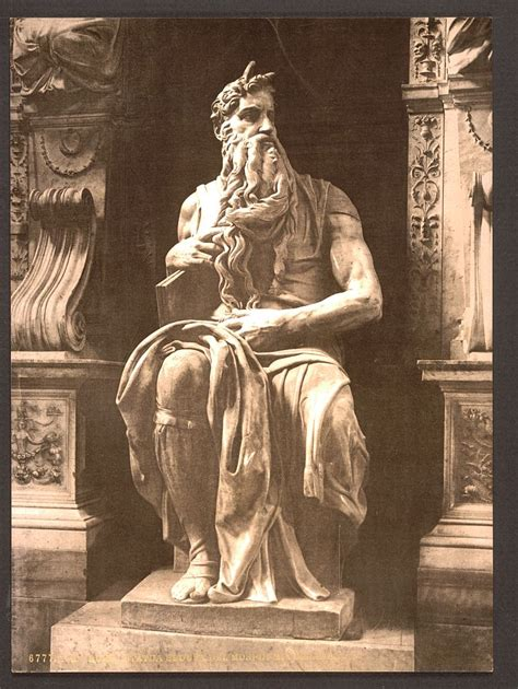 """[Statue by Michael Angelo, """"The Seated Moses"""", Rome, Italy"""