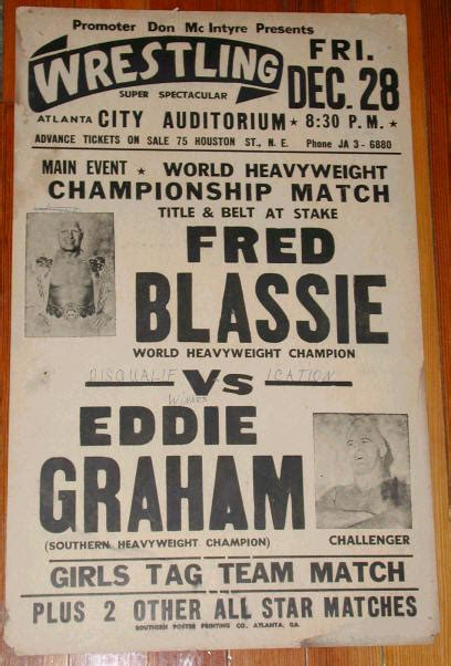 Vintage Wrestling Posters From Early 1960 - EchoMon