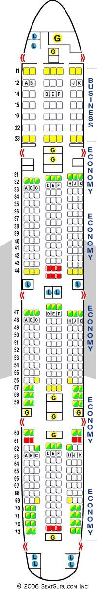 SeatGuru Seat Map Air India Boeing 777-300ER (773
