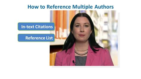 How to Reference Multiple Authors in APA Style - YouTube