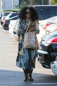 Diana Ross wears unusual jacket to go grocery shopping