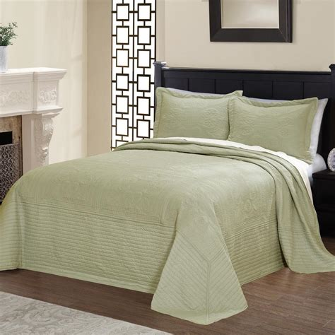 American Traditions French Tile Quilted Sage Full