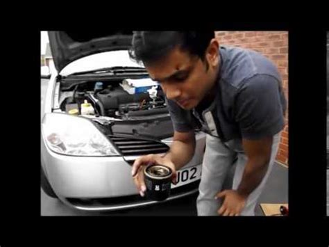 Nissan Primera P12 Service- Oil and Air-Filter - YouTube