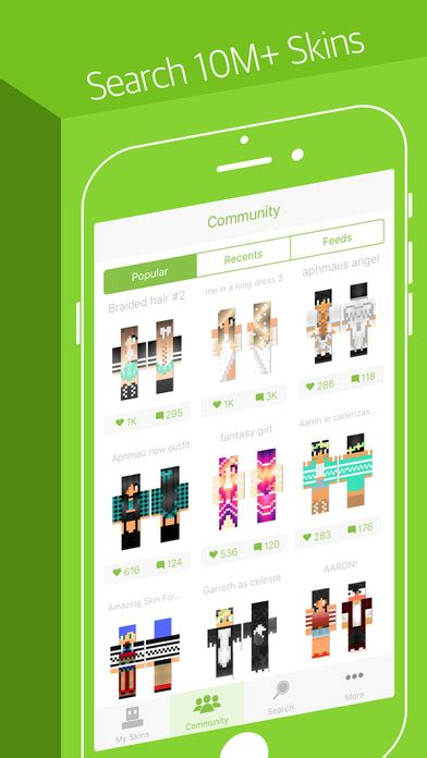 Skinseed - Skin Creator for Minecraft Skins for iOS - Free