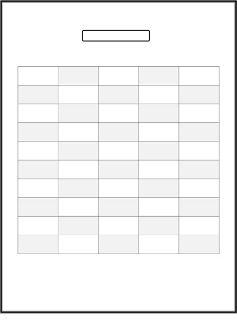 50 Number Chart Printable | Activity Shelter