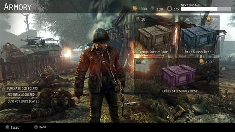 COD WWII Supply Drops Menu Concept Art - YouTube