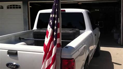 American flags in my truck bed - YouTube