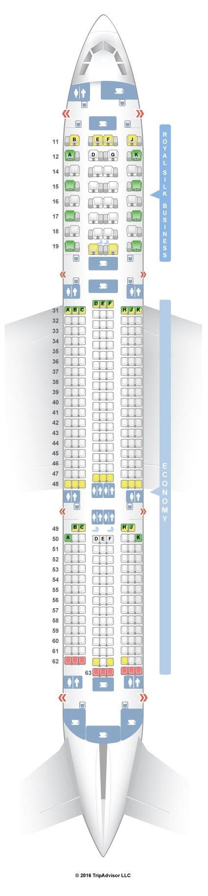 SeatGuru Seat Map THAI Airbus A350-900 (359)