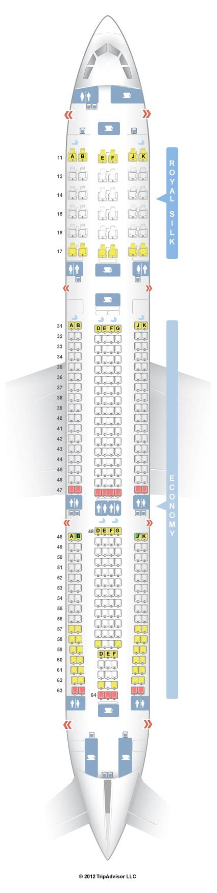 SeatGuru Seat Map THAI Airbus A330-300 (330) V1