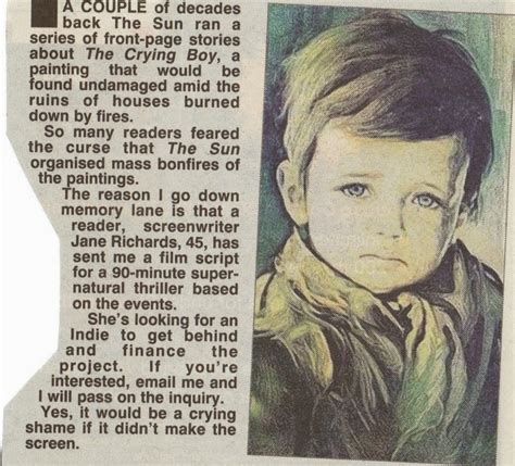 World Of Mysteries: Crying Boy Painting