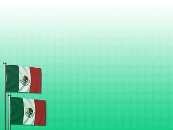 Mexico Flag 02 PowerPoint Template