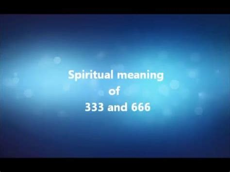 The True Spiritual Meaning of 666 - Number of the Beast