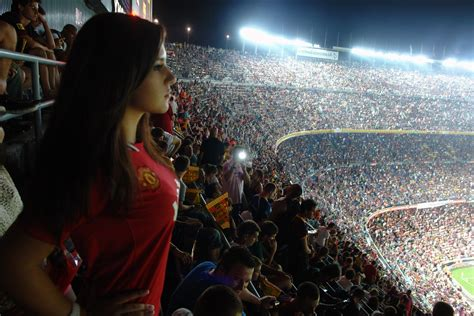 sports, Boobs, Manchester United, Camp Nou, Stadium