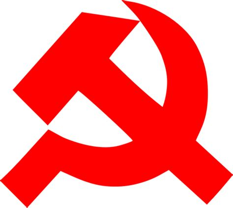 Communism sign of thick hammer and sickle vector clip art