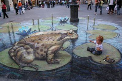 Julian Beever's New 3D Sidewalk Paintings