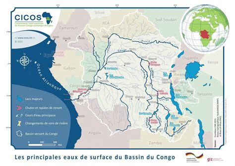 Definition of navigation maps of the rivers Congo and