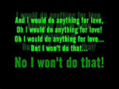 Meat Loaf I Would Do Anything For Love But I Won't Do That