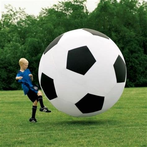 Giant Inflatable Soccer Ball - great decor pieces ;) like
