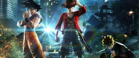 Download 2560x1080 wallpaper jump force, anime video game