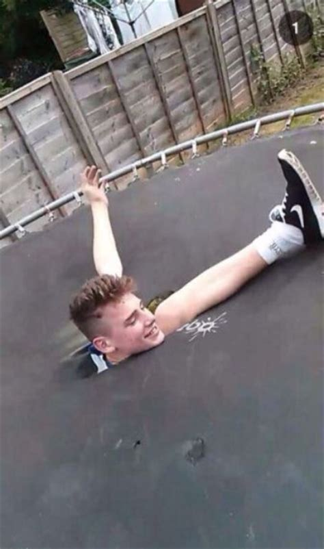 Hole In One! Trampoline Fall Fail